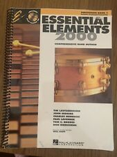Essential ELEMENTS 2000 PERCUSSION BOOKS 1&2 - Comprehensive Band Method LOT