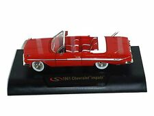 1961 Chevrolet Impala Diecast Model Car in Red, 1:32 Scale, Signature Models