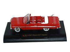 1961 Chevrolet Impala Diecast Car, Red, 1:32 Scale, Signature Models