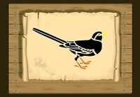 Black Bird Stencil 350 micron Mylar not thin stuff #Bird038