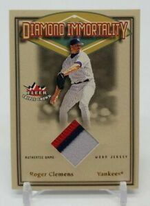 2002 Fleer Triple Crown ROGER CLEMENS Diamond Immortality 3 Color Patch Jersey