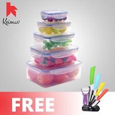 Keimavlock 10-Pc Airtight Food Storage with Ceramic Knife 5 Piece Set