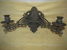 Antique Art Nouveau Brass Wall Candle Holder