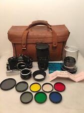 Vintage Nikon FM Black 35mm Camera Lot