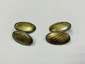 Manschettenknöpfe, Silber 835, zum teil vergoldet, je 4,12g (44079)