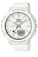 Casio Bgs100-7a1 Baby-g Ladies White Duo Step Tracker Watch WR 10 ATM