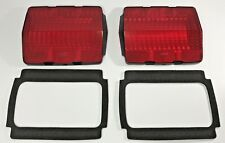 Pair Tail Light Lenses & Black Foam Gaskets for 1964-1966 Ford Mustang