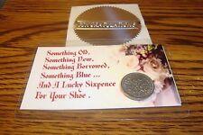 1967 UK BRITISH WEDDING SIXPENCE Coin, Laminated & Magnetic Keepsake Gift Card