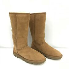 UGG Boots UK 7.5 EU 40 Knee High Light Brown Shearling Leather Casual 291728