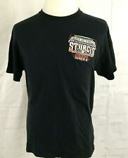 Lot of 2 Sturgis BLACK HILLS Motorcycle T Shirt Sz Lg 2011 and 2016