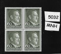 #5032  MNH 1941 stamp block / 60 Gr Adolph Hitler / Occupied Poland Third Reich