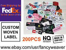 Custom Woven Label - Damask Quality - Fabric -Clothing - Accessories - Quilting