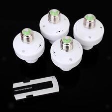 4pcs E27 Douille Lampe/Ampoule & Télécommande Sans fil & Support 20M