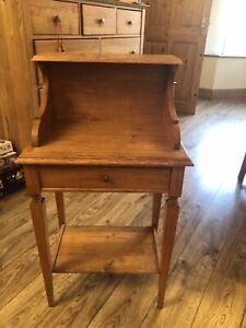 Solid Oak Hall Telephone Table