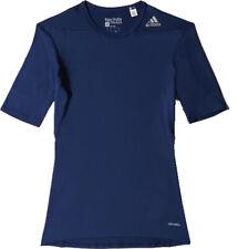 Adidas Men's Techfit Base Layer Short Sleeve Tee, Navy