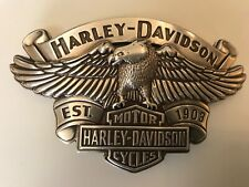 Harley-Davidson mens Eagle banner belt  buckle.#99401-09VM.silver plaited.