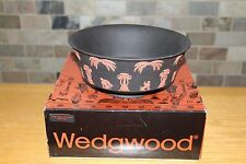 Rare Wedgwood Terracotta Black Jasper Ware Egyptian Nile Round Bowl (with Box)
