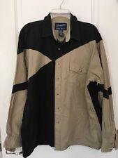 Vtg Wrangler Western Shirts Pearl Snap Heavy Cotton Cowboy Brown Black Mens XL
