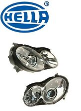 Mercedes W209 C55 AMG Left and Right Headlight Assemblies Bi-Xenon Hella