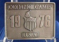 Olympic 1976 Belt Buckle by Bergamot Brass Works, Darien, Wisconsin