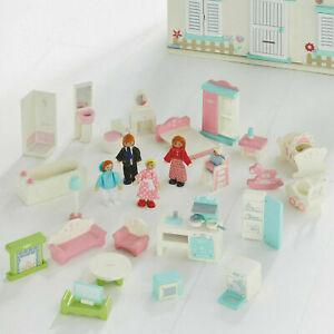Wooden Dolls House Furniture Sets for 10cm dolls. Bed-Bath-Living-Kitchen etc