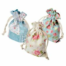 Drawstring Gift Bags - Set of 6 Cotton - Party Wedding - Ditsy Floral Vintage