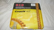 D.I.D Professional Motorcycle Chain Kit 520 VX2-110ZB X Ring Chain and Sprockets