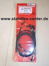 GSX-R 1000 K7 K8 WVCL STAHLFLEX vorne_hinten_Kuppl SCHWARZ ABE GSXR1000 NEU D140