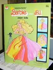 1978 FASHION PHOTO BARBIE AND  P.J. Paper Dolls Unpunched Mint in Book Pre-Cut