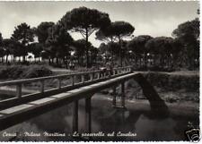 CERVIA MILANO MARITTIMA LA PASSERELLA SUL CANALINO 1953