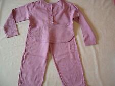Pyjama ORCHESTRA 4 ans TBE avec petit noeud en satin rose