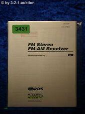 Sony Bedienungsanleitung HT DDW840 /DDW740 FM/AM Receiver  (#3431)