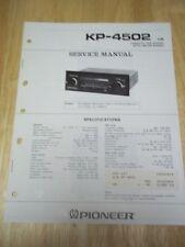 Pioneer Service Manual~KP-4502 Car Stereo Cassette Radio~Original~Repair*