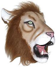 ADULT LATEX LION MASK MADAGASCAR JUNGLE ANIMAL LION KING COSTUME MASKS 65641