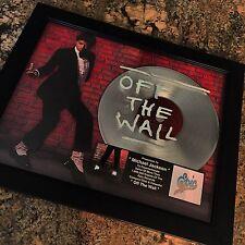 Michael Jackson Off The Wall Platinum Record Album Disc Music Award MTV RIAA