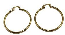 Round 2 inch  Hoops 18K Gold Plated Hoops - Shinny Hoop Earrings 3mm Width