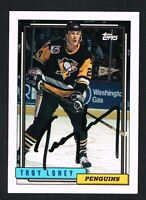 Troy Loney #397 signed autograph auto 1992-93 Topps Hockey Trading Card