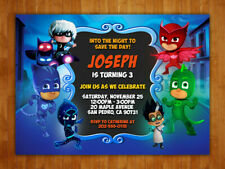 Custom PJ Masks Birthday Party Invitations with FREE Thank You Card