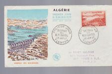 Algerie Algeria First Day Cover June 23 1957 Barrage des Beni Bahdel