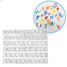 6x Alphabet Number Letter Cake Decorating Set Fondant Cake Cutter Baking Mould