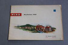 X479 WIAD Train Catalogue maquette 1959 12 pages 21x14,7 cm Deutch Katalog
