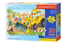 Castorland C-02139 Maxi Puzzle Bulldozer in Action Kinderpuzzle 20 Teile