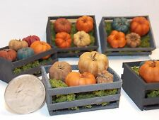 Dollhouse Miniature Halloween Pumpkins crate 1:12  inch scale G66 Dollys Gallery