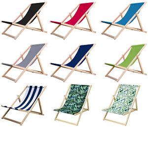 Sedia a sdraio in faggio  terrazza giardino sdraio tradizionale sulla spiaggia