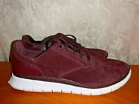 VIONIC Taylor Burgundy Suede Athletic Casual Sneakers SEXY Shoes Sz 9.5 👣b11