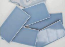 TILE SAMPLES: Ocean Clear Blue Metro Gloss Bathroom Kitchen Wall Tiles 10 x 20cm