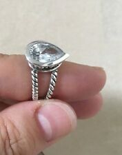Crystal Water Drop, Msrp $145 Barse Ring Size 7, Sterling Silver,