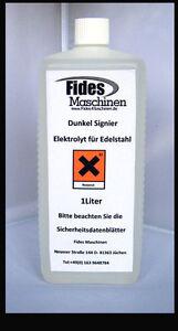 Beizgerät 1L Elektrolyt zum DUNKEL SIGNIEREN auf EDELSTAHL von  Fides Maschinen