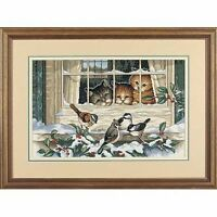 Dimensions - Counted Cross Stitch Kit - Three Bird Watchers - Cats - D03839