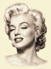 MARILYN MONROE- complete counted cross stitch kit - everything you need